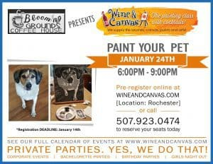 Wine & Canvas - Paint Your Pet @ Blooming Grounds Downtownn | Winona | Minnesota | United States
